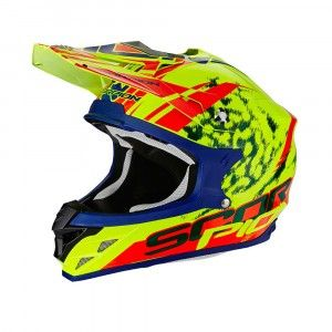 Scorpion Crosshelm VX-15 Evo Air Kistune Neon Yellow/Red-M