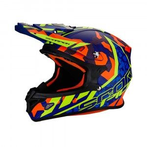 Scorpion Crosshelm VX-21 Air Furio Blue/Orange/Neon Yellow