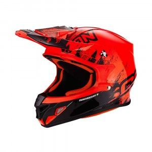 Scorpion Crosshelm VX-21 Air Mudirt Black/Neon Red