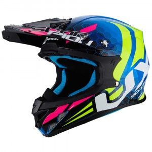 Scorpion Crosshelm VX-21 Air Xagon Blue/Neon Yellow